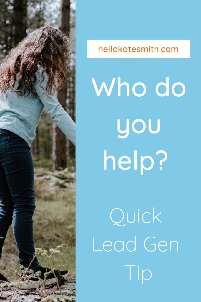 Who do you help?