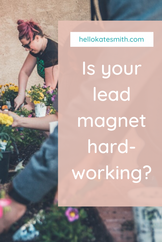is your lead magnet working hard?