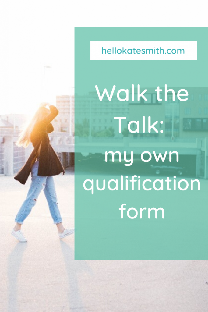 My lead qualification form