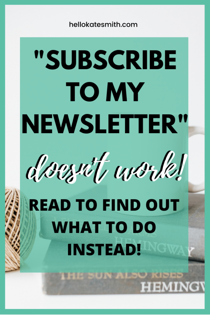 """""""Subscribe to my Newsletter"""" doesn't work anymore."""