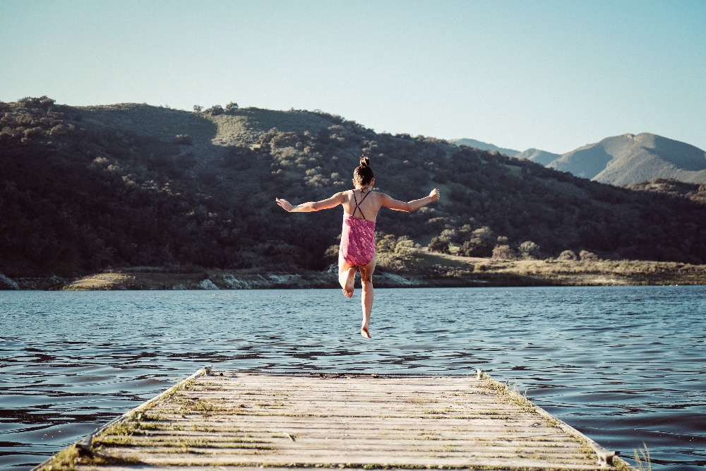 Leap into the lake
