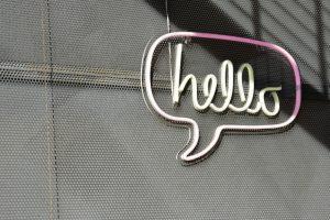 hello open sign