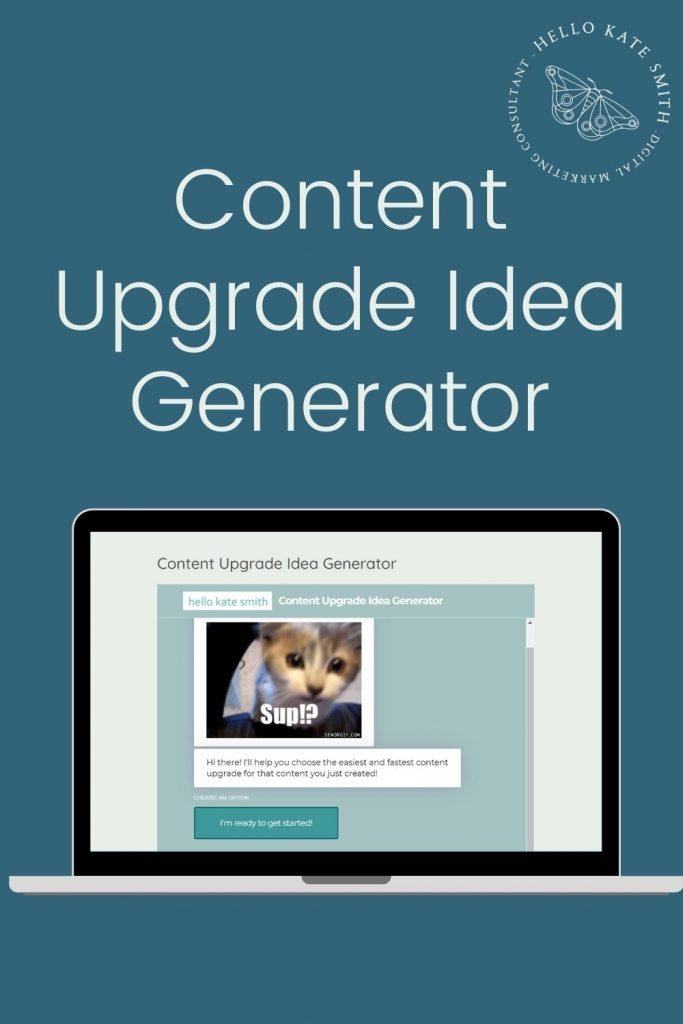 Content Upgrade Idea Generator