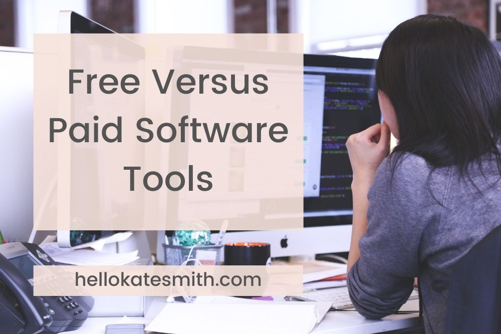 free versus paid software tools