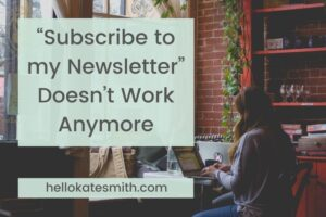 """subscribe to my newsletter"" doesn't work"