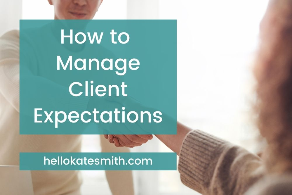 How to Manage Client Expectations -woman shaking hands with her client