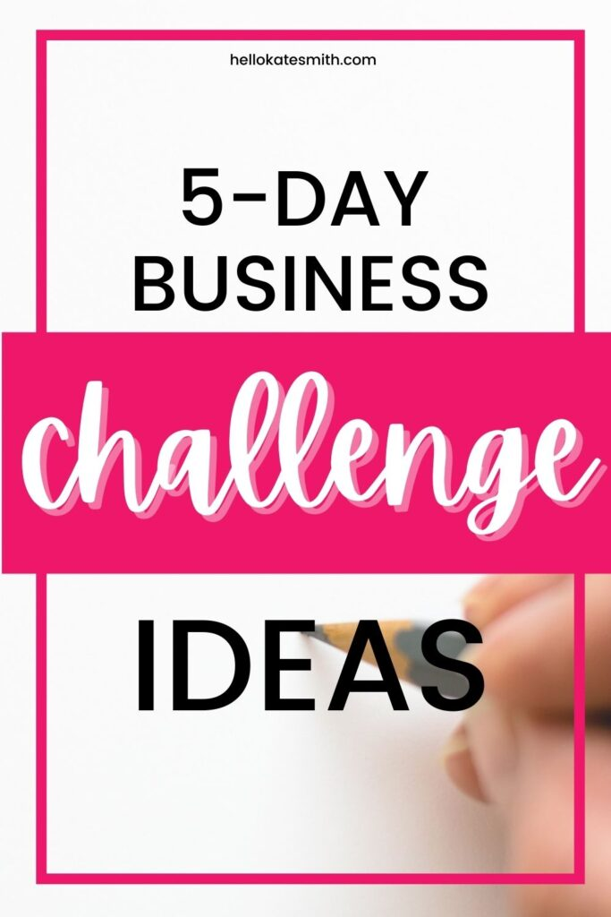 5-day challenge ideas for business-owning moms